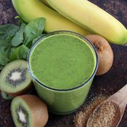 http://www.dreamstime.com/royalty-free-stock-image-green-smoothie-made-kiwi-spinach-banana-ground-flax-seeds-image40560086
