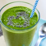 Kokos, cacao en green superfood-smoothie